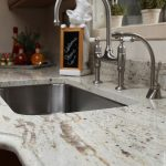 white marble kitchen counters