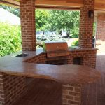 outdoor bar with grill