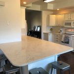 white kitchen counters