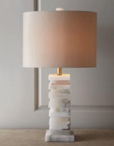 White Modern Granite Remnant Lamp