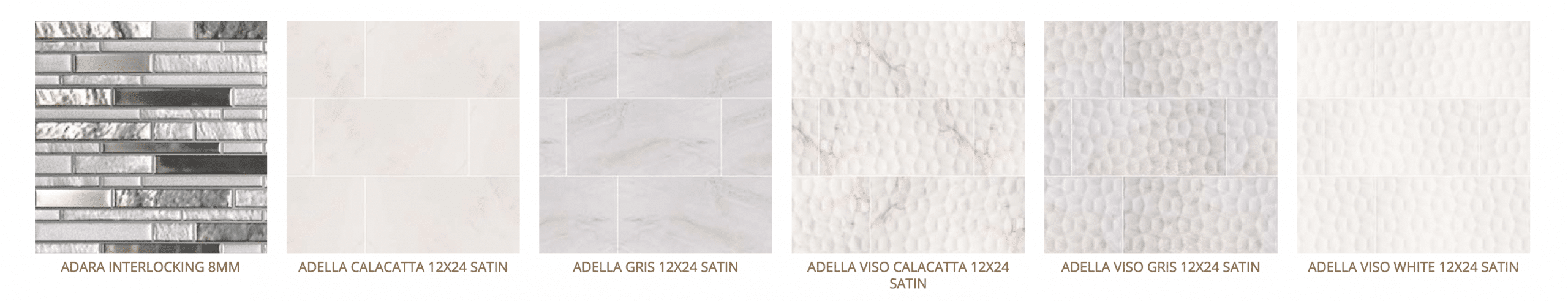 various backsplash tiles